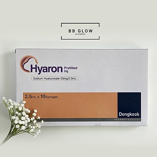 Hyaron Prefilled| product box | bb glow acadmey