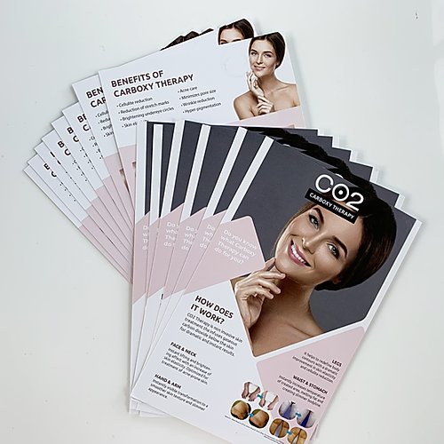 Carboxy Therapy 50 Brochures  product   bb glow academy